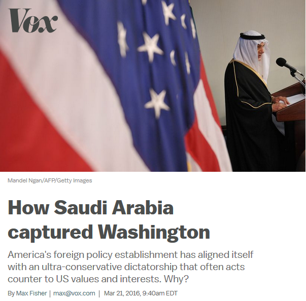 Vox: How Saudi Arabia Captured Washington
