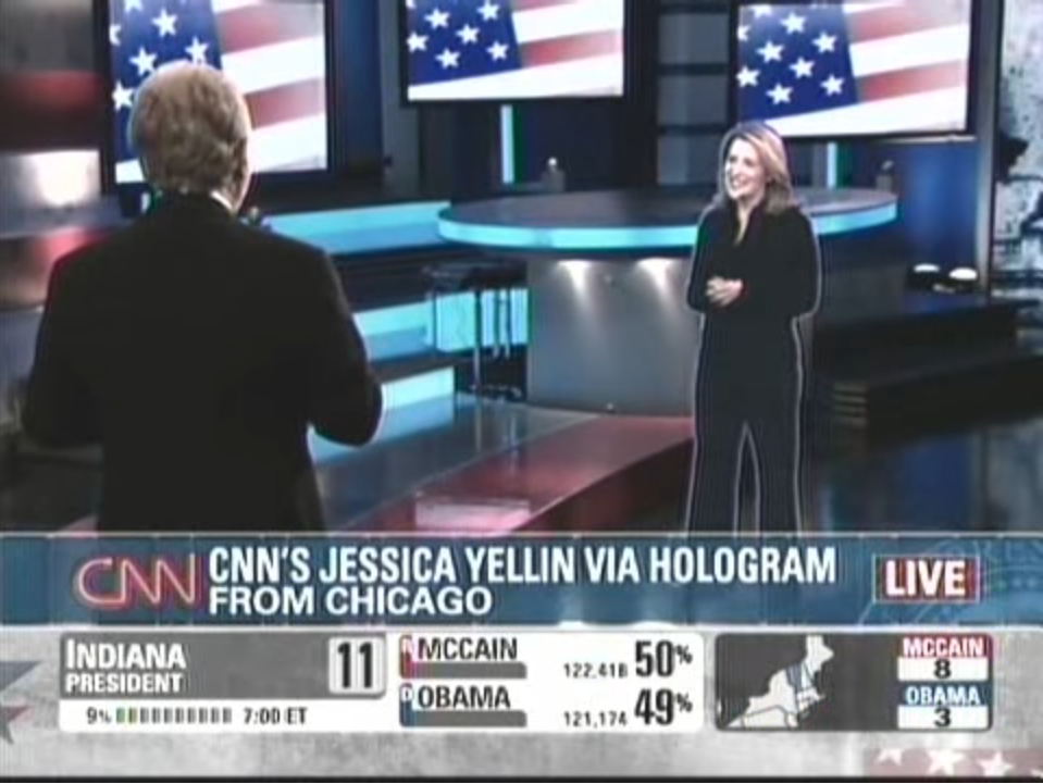 CNN's Jessica Yellin Via Hologram