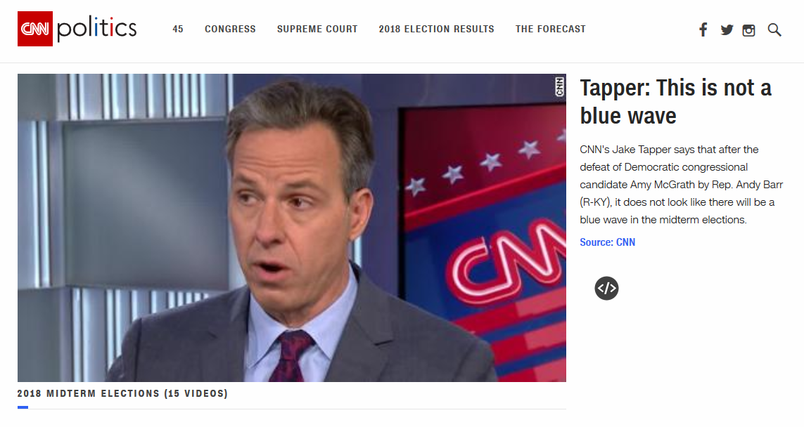 Tapper: This Is Not a Blue Wave