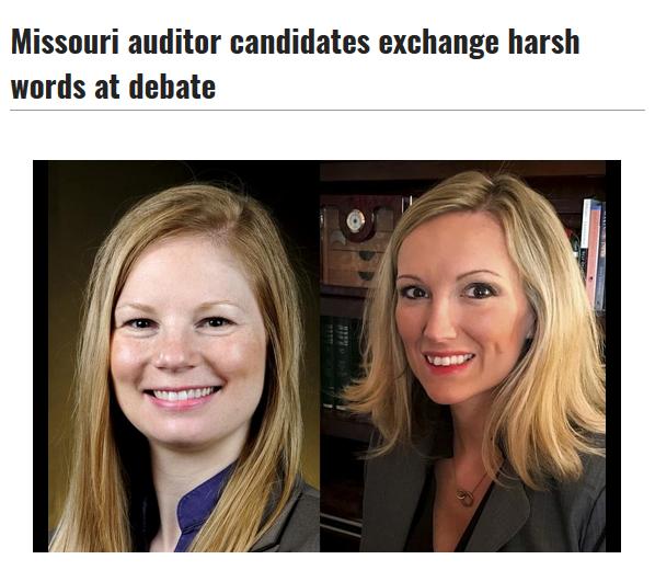 Columbia Tribune: Missouri auditor candidates exchange harsh words at debate