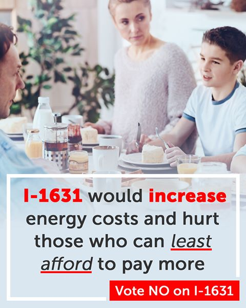 Facebook ad: 1-1631 would increase energy costs