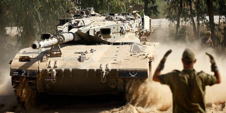 +972 photo of Israeli tank on Gaza border (photo: Miriam Alster/Flash90)