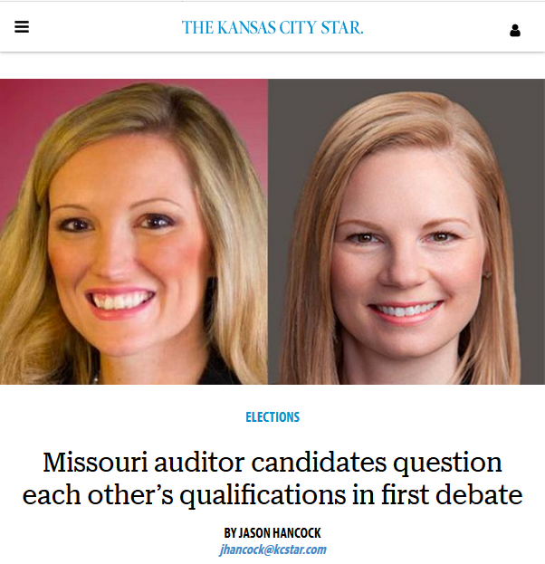 Kansas City Star: Missouri auditor candidates question each other's qualifications in first debate