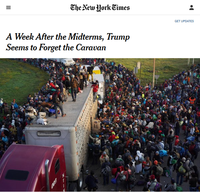 NYT: A Week After the Midterms, Trump Seems to Forget the Caravan