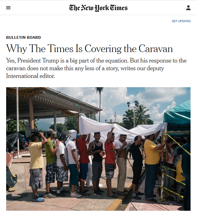 NYT: Why the Times Is Covering the Caravan
