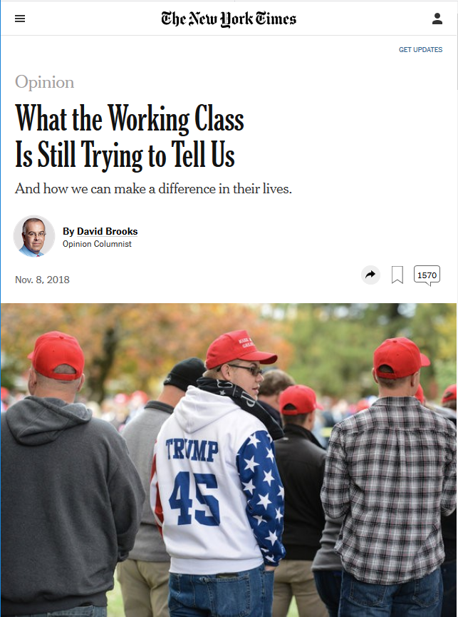 NYT: What the Working Class Is Trying to Tell Us