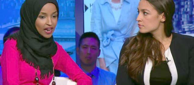 Alexandria Ocasio-Cortez and Ilhan Omar on CNN
