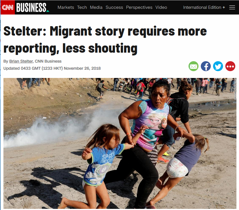 CNN: Stelter: Migrant story requires more reporting, less shouting