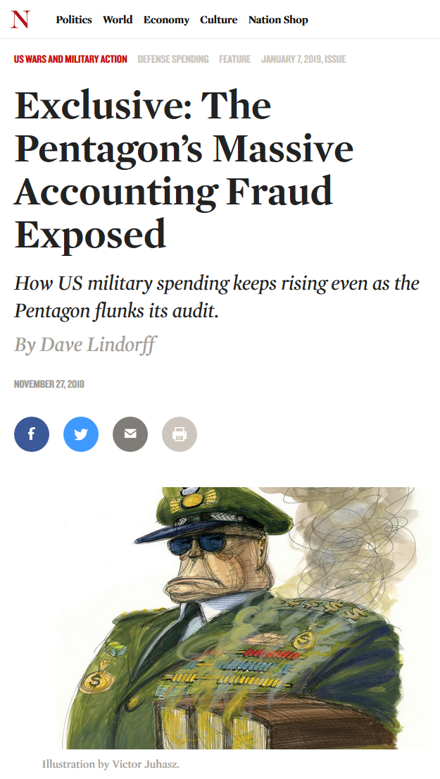 The Nation: The Pentagon's Massive Accounting Fraud Exposed