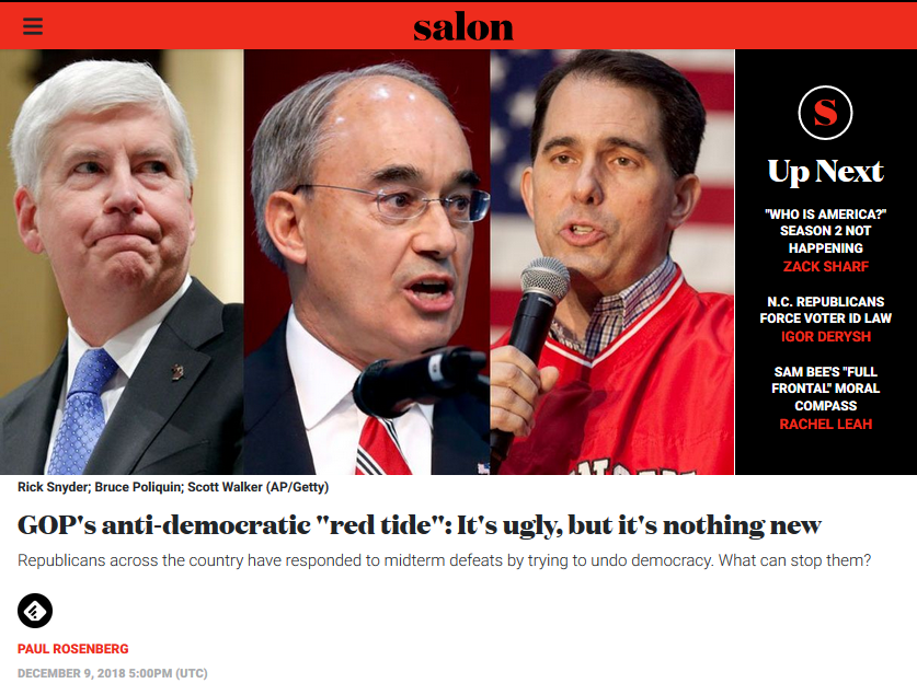 "Salon: GOP's anti-democratic ""red tide"": It's ugly, but it's nothing new"