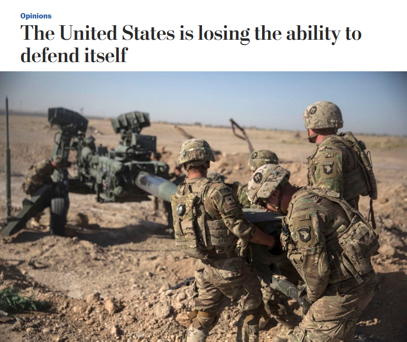 WaPo: The United States is losing the ability to defend itself