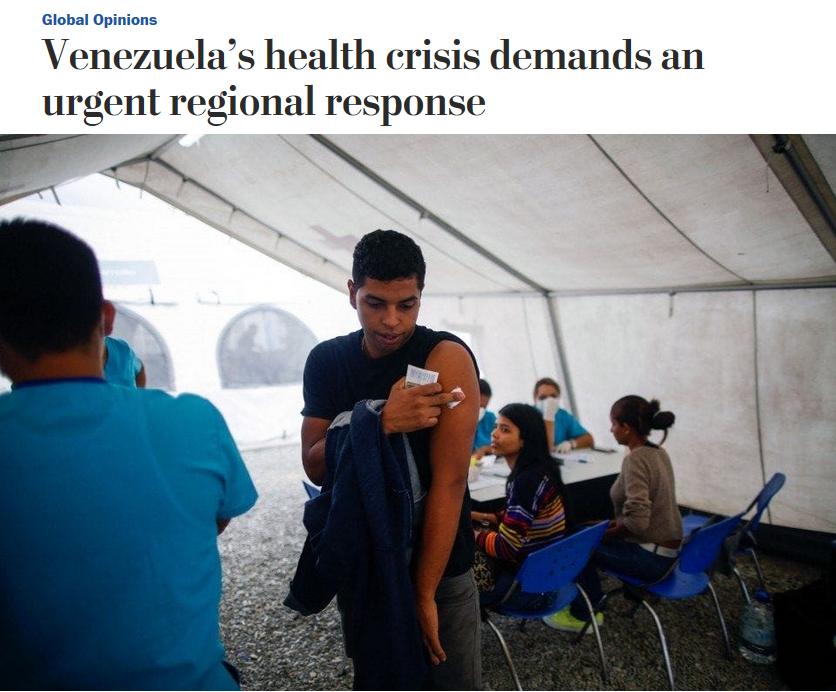 WaPo: Venezuela's health crisis demands an urgent regional response