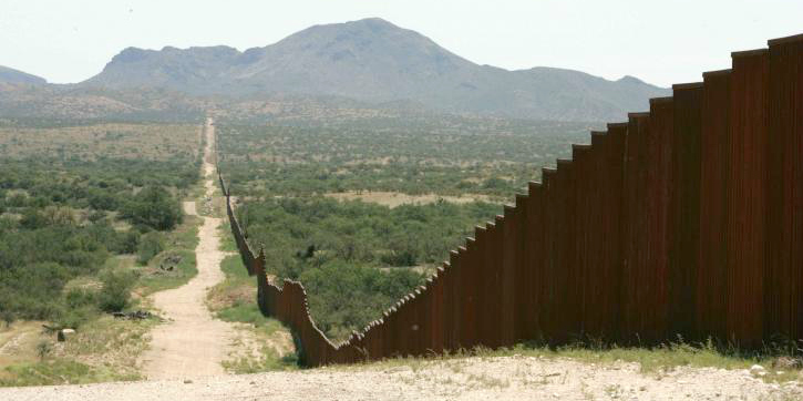 Existing wall on US/Mexico border