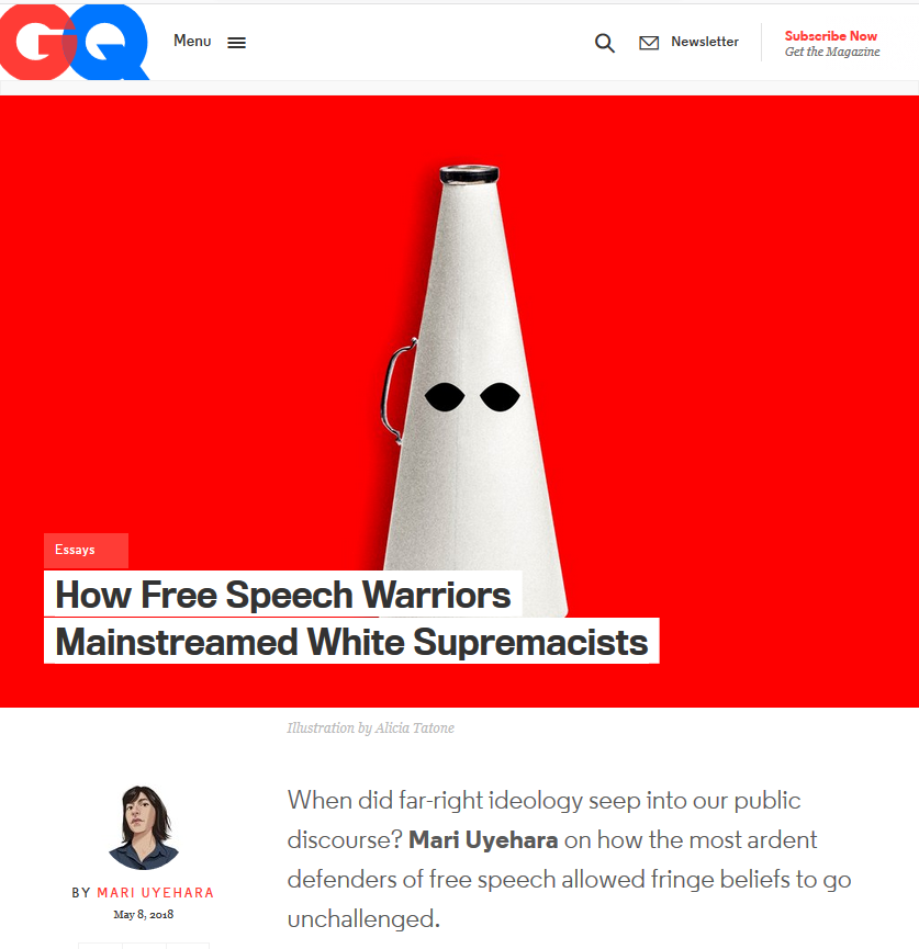 GQ: How Free Speech Warriors Mainstreamed White Supremacism