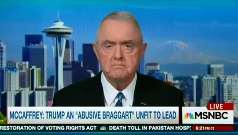 McCaffrey: Trump an 'Abusive Braggart' Unfit to Lead
