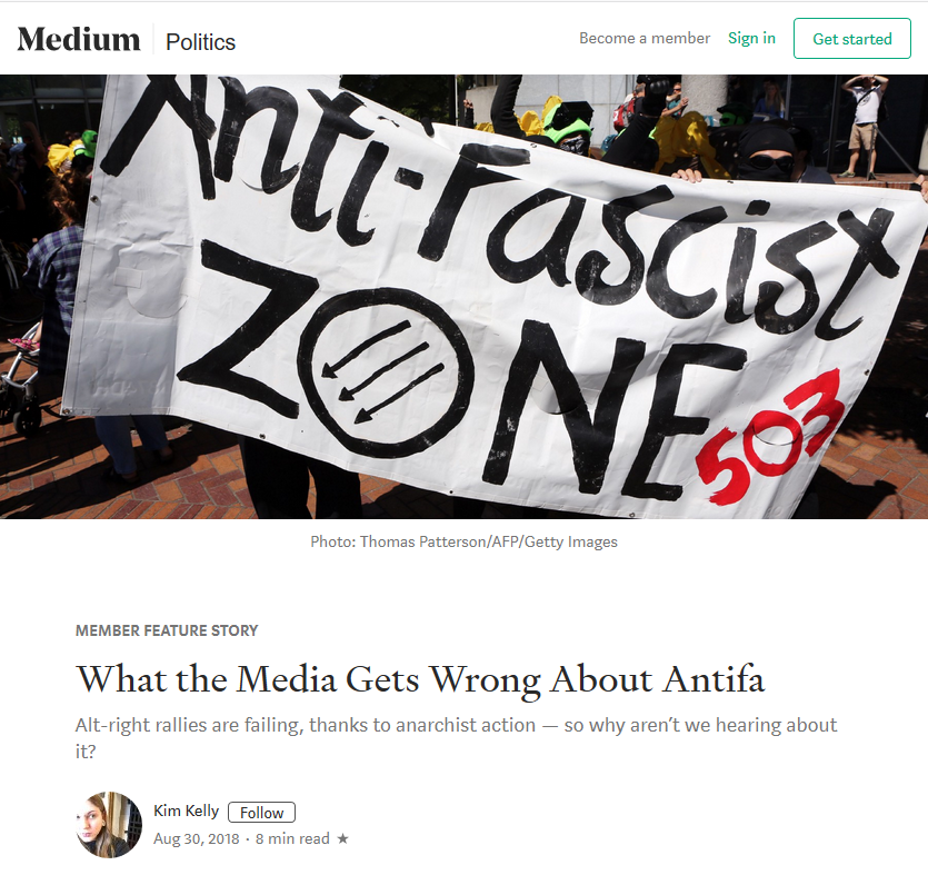 Medium: What the Media Get Wrong About Antifa