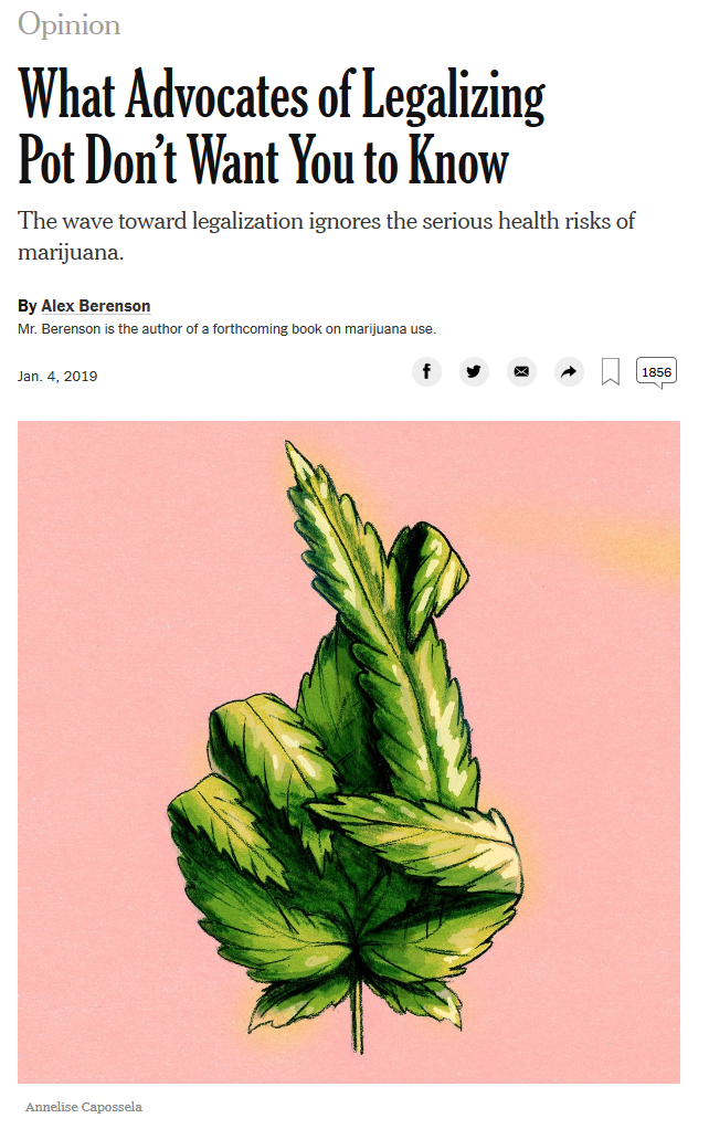 NYT: What Advocates of Legalizing Pot Don't Want You to Know