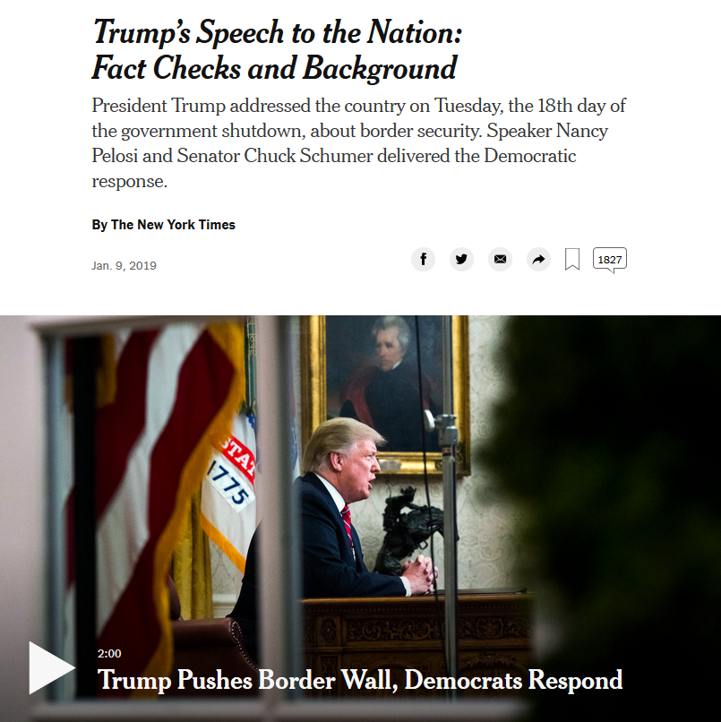 NYT: Trump's Speech to the Nation: Fact Checks and Background