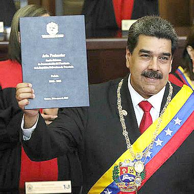 Nicolas Maduro at his 2019 inauguration