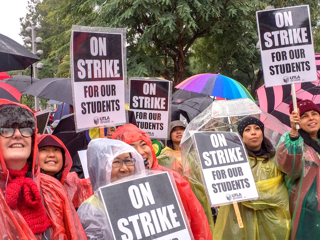 LA teachers on strike