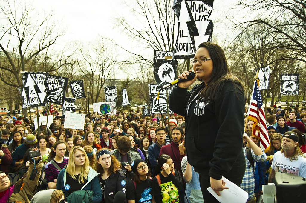 Keystone XL protest, White House, 2014 (cc photo: Joe Brusky)