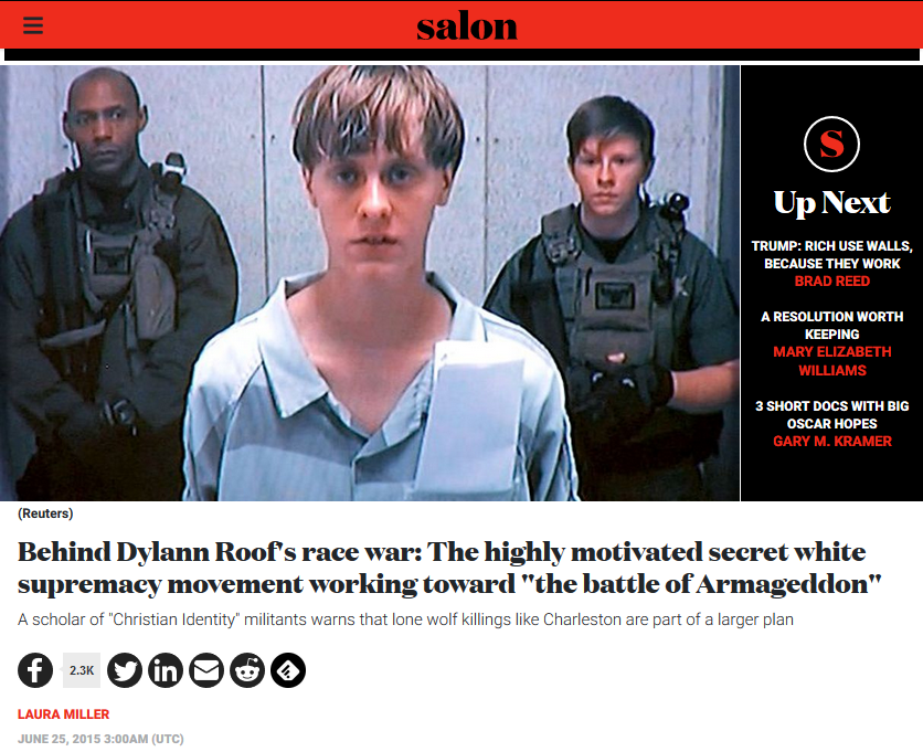 Salon: Inside Dylann Roof's Race War