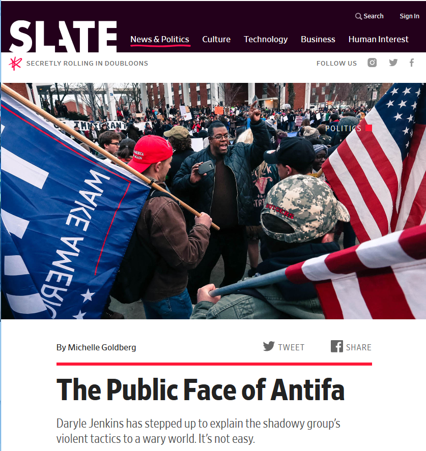 Slate: The Public Face of Antifa