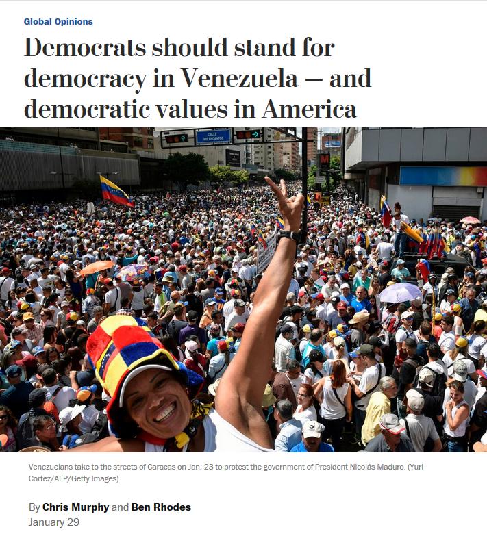 WaPo: Democrats should stand for democracy in Venezuela — and democratic values in America