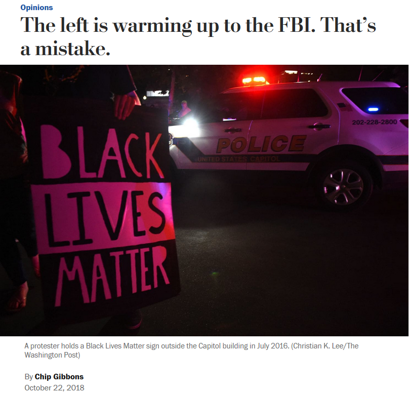 WaPo: The Left Is Warming Up to the FBI