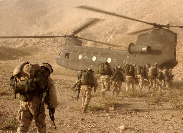 US soldiers returning to base in Afghanistan (photo: DoD/Kyle Davis)
