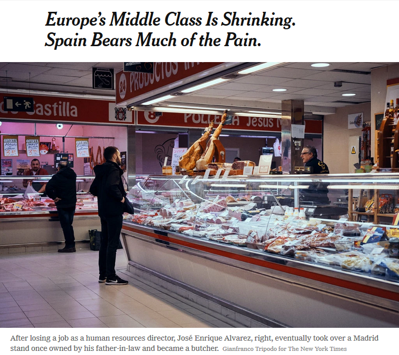 New York Times: Europe's Middle Class Is Shrinking