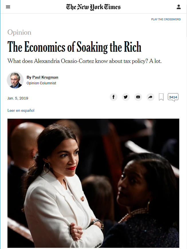 NYT: The Economics of Soaking the Rich