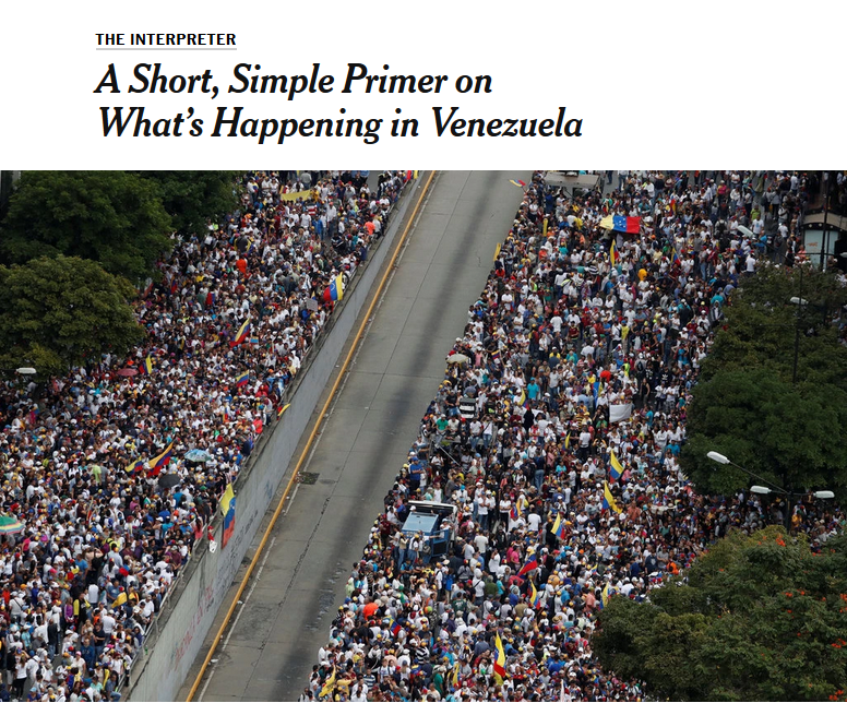 NYT: A Short, Simple Primer on What's Happening in Venezuela