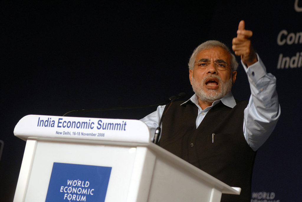 Narendra Modi (cc photo: World Economic Forum/Norbert Schiller)