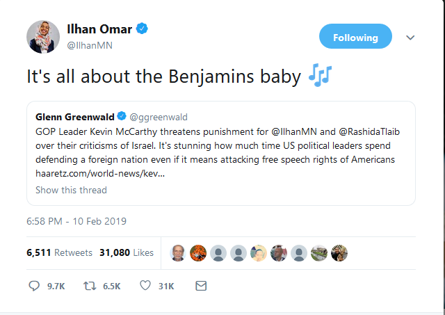 Ilhan Omar: It's all about the Benjamins baby