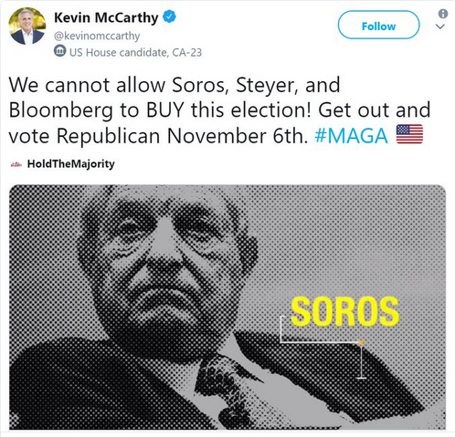 Kevin McCarthy: We cannot allow Soros, Steyer and Bloomberg to BUY this election!