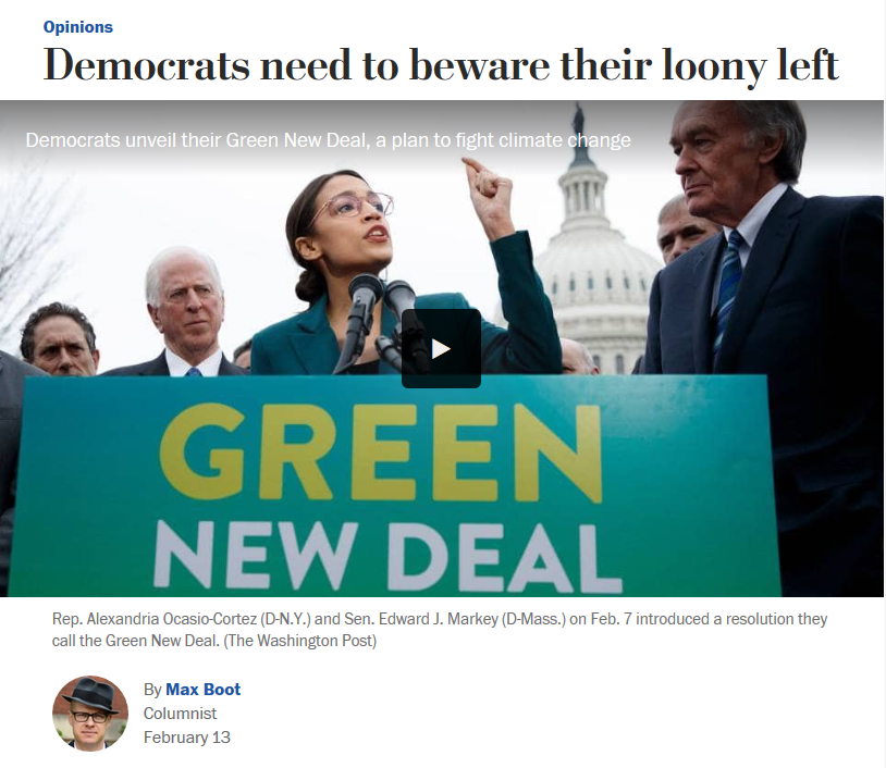 WaPo: Democrats Need to Beware Their Loony Left