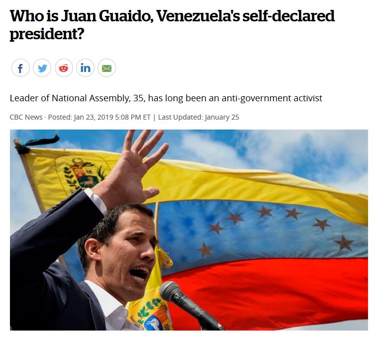 CBC: Who is Juan Guaido, Venezuela's self-declared president?
