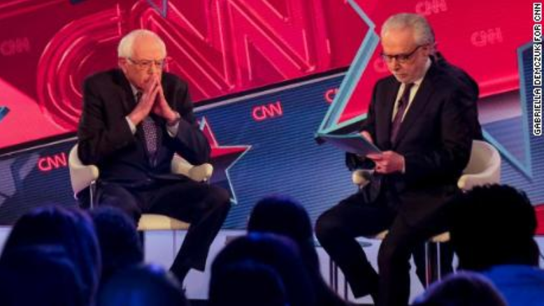 Bernie Sanders and Wolf Blitzer on CNN