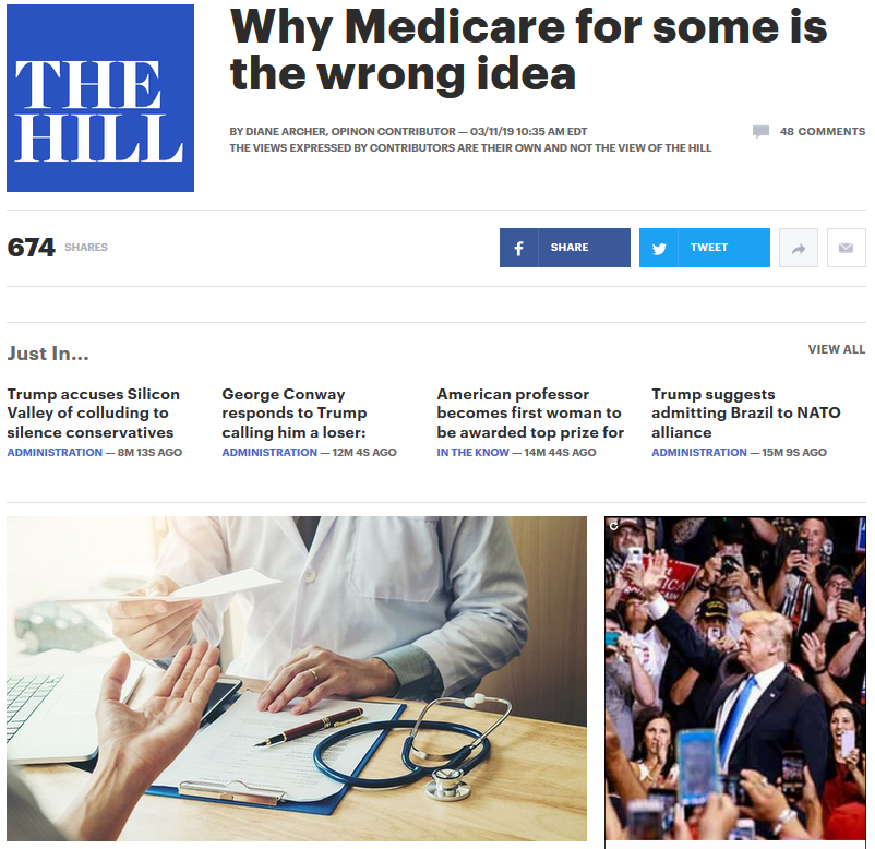 The Hill: Why Medicare for Some Is the Wrong Idea