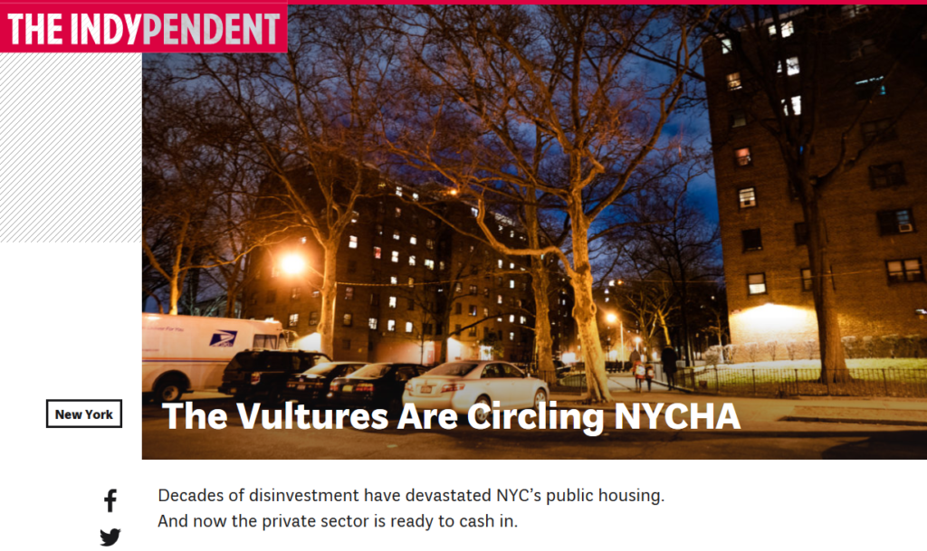 Indypendent: The Vultures Are Circling NYCHA