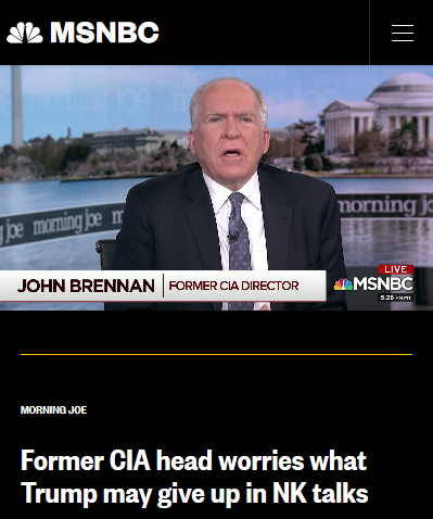 MSNBC: Former CIA head worries what Trump may give up in NK talks