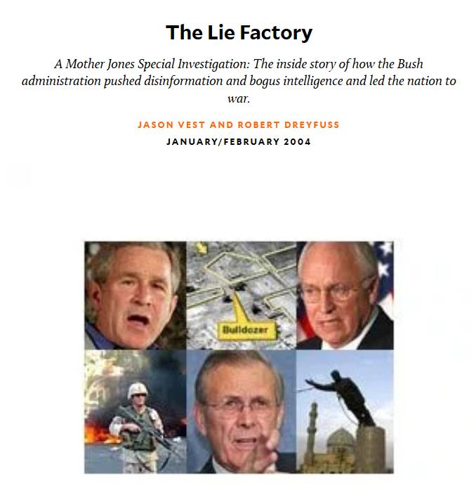 Mother Jones: The Lie Factory