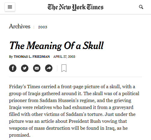 NYT: The Meaning of a Skull