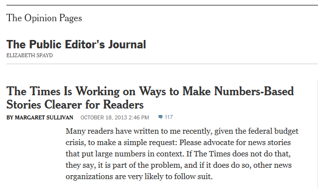 NYT: The Times Is Working on Ways to Make Numbers-Based Stories Clearer for Readers