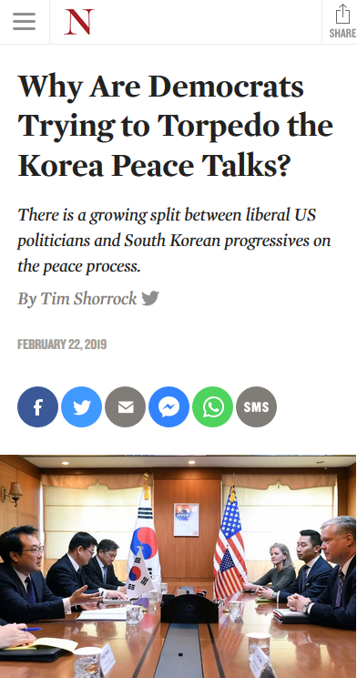 Nation: Why Are Democrats Trying to Torpedo the Korea Peace Talks?