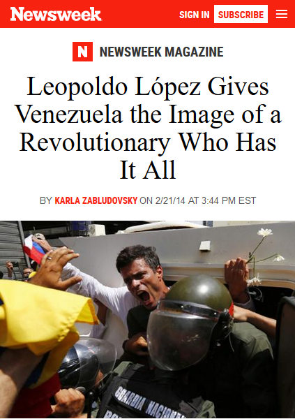 Newsweek: Leopoldo López Gives Venezuela the Image of a Revolutionary Who Has It All