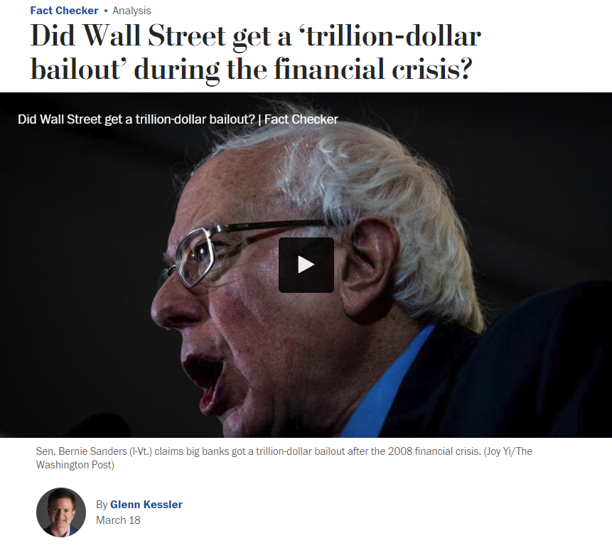 WaPo: Did Wall Street get a 'trillion-dollar bailout' during the financial crisis?