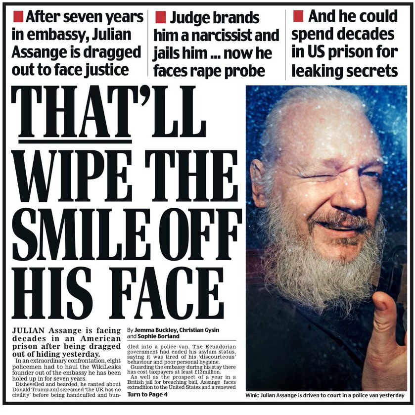 Daily Mail: That'll Wipe the Smile Off His Face