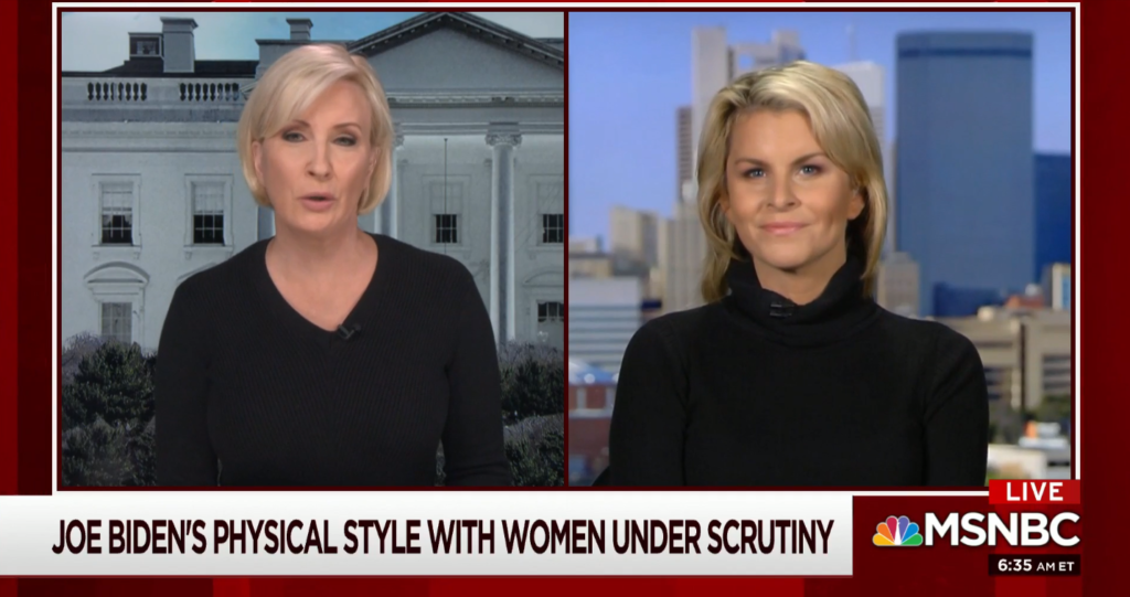 MSNBC: Joe Biden's Physical Style With Women Under Scrutiny